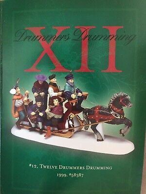 Department 56 twelve 12 days of Christmas Mint in Box XII 12 Drummers Drumming