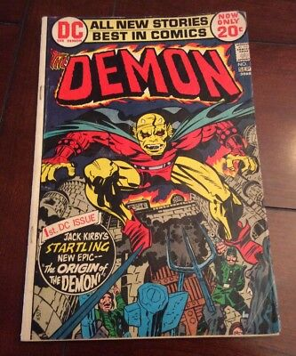 The DEMON #1 DC Comics Bronze Age Key Issue 1st Appearance of Etrigan Good