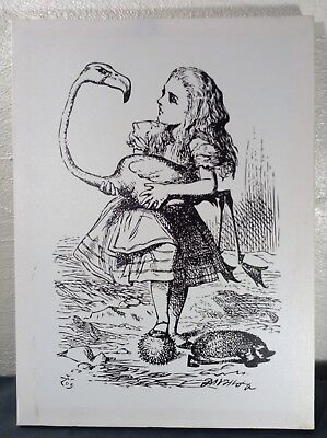 ~ Printed Canvas Alice In Wonderland Wall Art Alice With Flamingo Croquet ~