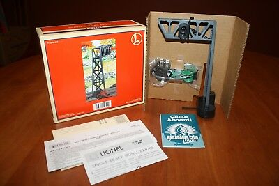 Lionel O Scale 6-12894 452 Single-Track Signal Bridge in Original Box NEW 1996
