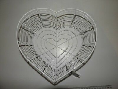 White Heart Shaped Wire Basket