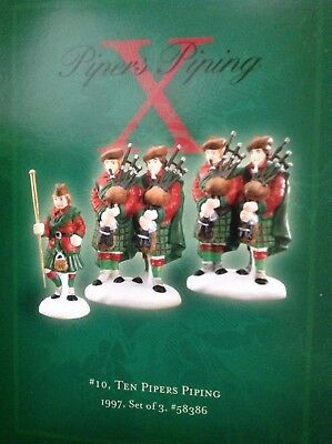 Department Dept 56 twelve 12 days of Christmas Mint in Box X 10 Pipers piping
