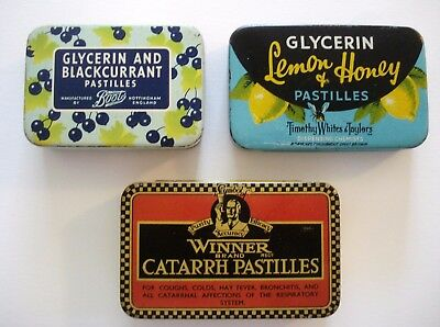 3 x Old English Pastilles Tins, Boots - Winner - Timothy Whites & Taylors brands