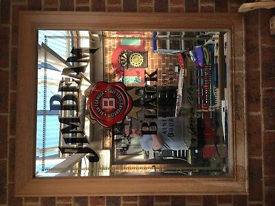 Collectable framed picture , Jim Beam mirror