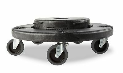 Rubbermaid BRUTE Quiet Dolly - Black Fits all BRUTE Round containers