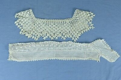 Antique LOT of 2 VICTORIAN LADIES LACE COLLARS DRESS FRONT HIGH COLLAR + #04401