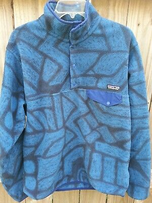 💥 Patagonia Synchilla Snap-T Mens Fleece Pullover Sweater Sz M  Free Shipping