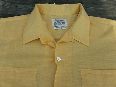 VTG NWOT 1950s-60s Rockabilly IDLE HOUR Mens Sz X-Large Shirt Loop Collar ERRO