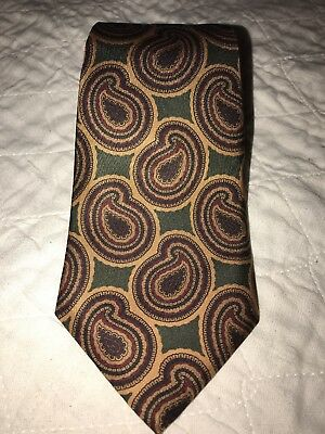 Briar Traditional Apparel Silk Mens Necktie Tie~ Green Paisley 55""