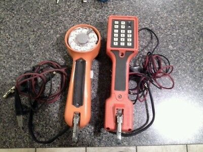 Harris Dracon TS22 009 and a vintage rotary phone linesmen test tool