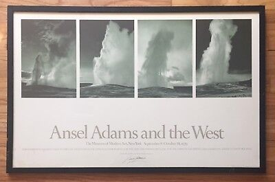 ANSEL ADAMS Vintage SIGNED Exhibition Poster Museum of Modern Art 1979