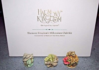 RARE Harmony Kingdom Figurines Club Kit Lovers Leap Field Day Merry Go Round Box