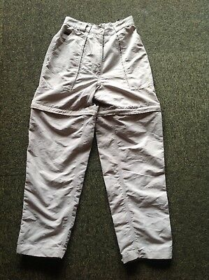The North Face beige size S zip-off Tekware Technology hiking pants in VGC