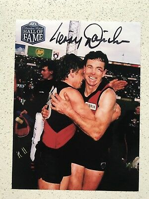 Afl Hall Of Fame - Terry Daniher - Essendon - Signed Photo