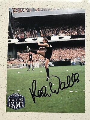 Afl Hall Of Fame - Robert Walls - Carlton - Signed Photo