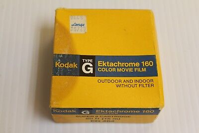 Vintage Kodak Ektachrome 160 Type G Color Movie Film *sealed*