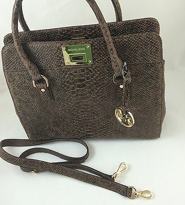 aeda2ff140f2 New Michael Kors MK Astrid Satchel Leather Shoulder Bag Purse Handbag Mocha   349