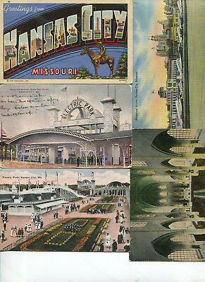 Lot of 40+ vintage Kansas City MO postcards - 1910's-1940's