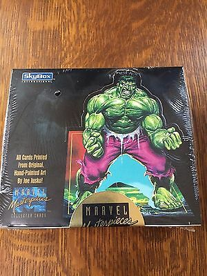 Factory Sealed Box 1992 Skybox Marvel Masterpieces Trading Cards /350,000