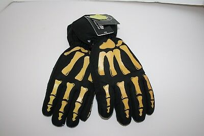 Thinsulate Insulated Water Proof Gloves Skeleton Black Boys L/XL Snow/Winte NWOT