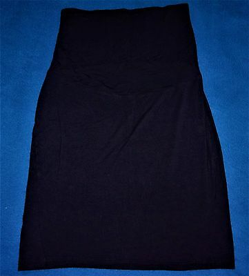 Excellent Gap Maternity Full Panel Black Stretch Knit Skirt Size Small