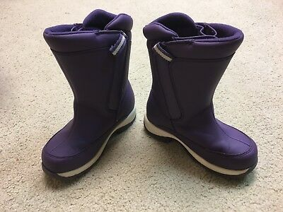 Purple Lands End Insulated Winter Snow Boots - Size 12 - Great Condition
