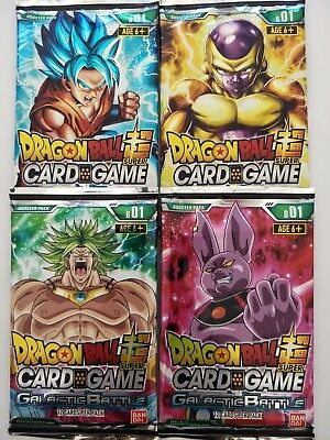 Dragon Ball Super Card Game | Galactic Battle 4 Booster Pack Lot - 12 cards/pack