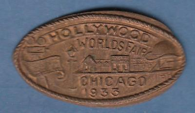 1933 Chicago World's Fair Hollywood Elongated Souvenir ( Lincoln Cent)