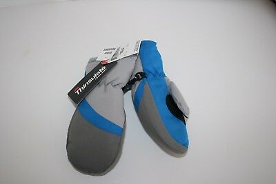Thinsulate Water Resistant Mittens Gray/Blue Toddler Boys OSFM NWT Gloves Wonder