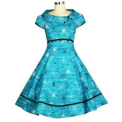 Chic Star Atomic Age Dress Retro Prom 60s 50s Vintage Pin Up Rockabilly Sci Fi