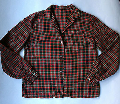 Vintage Women's Abercrombie & Fitch Red Plaid Long Sleeve Button Down Shirt