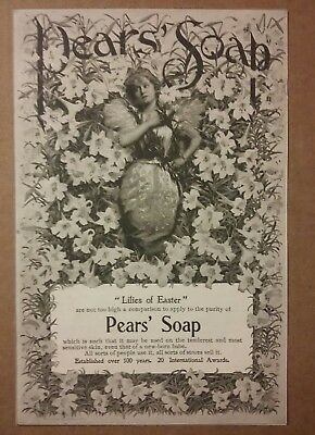 1899 Pears Soap Ad Lilies of Easter
