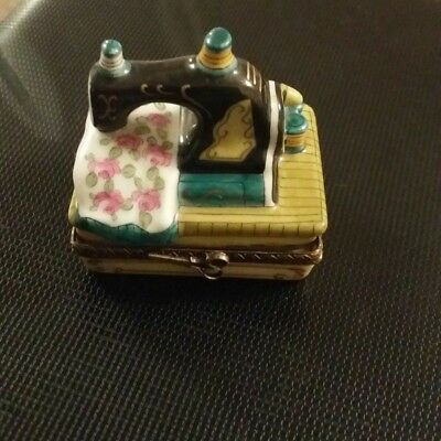Sewing Machine -  authentic FRENCH LIMOGES box rare design