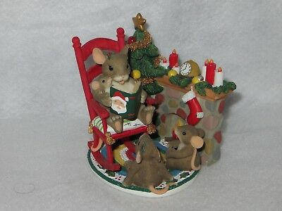 """christmas Time Is Family Time"" Charming Tails - Fitz Floyd - 87/117 - Mint"