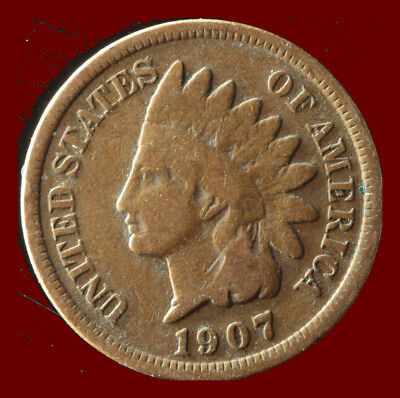 1907-P Indian Cent Ships Free. Buy 5 for $2 off