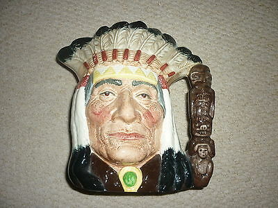 1966 Royal Doulton North American Indian D6611 Large Toby Mug Made in England