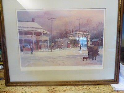 """Signed and numbered Lowell Ellsworth Smith Lithograph """"New Berlin Square East"""""""