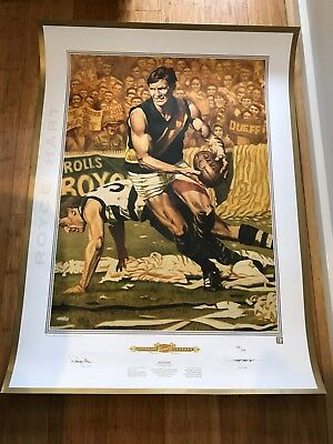 JAMIE COOPER  ROYCE HART  RICHMOND TIGERS  SIGNED PRINT No 158/500