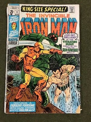 The Invincible Iron Man King Size Special 1 Submariner Namor Stark Marvel Comics