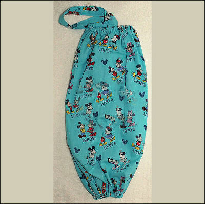 hanging kitchen cloth bag holder grocery t-shirt DISNEY MICKEY VARIOUS POSES J