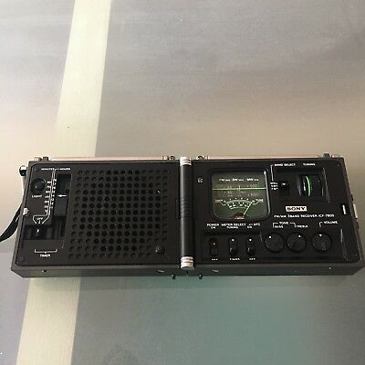 """SONY ICF - 7800 3 Band Receiver Radio FM/SW/MW Made in Japan 1970s """"Newscaster"""""""