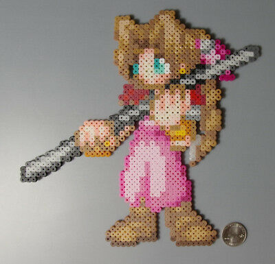Aerith/Aeris Gainsborough Final Fantasy 7 SquareEnix Perler Beads