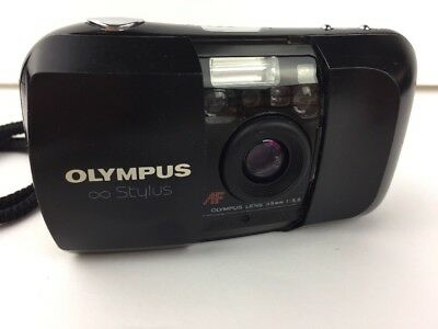 Olympus Infinity Stylus 35mm Point & Shoot Film Camera 1:3,5 W/ Battery -Tested