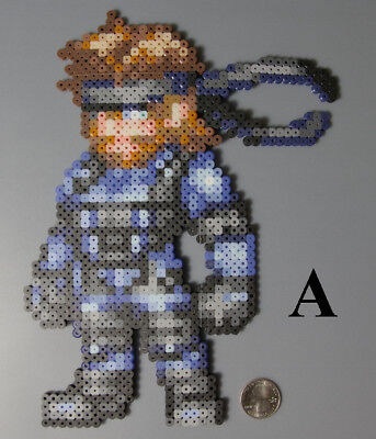 Solid Snake Metal Gear Konami Perler Beads