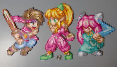 Randi, Purim, and Popoi Collection Secret Of Mana SquareEnix Perler Beads