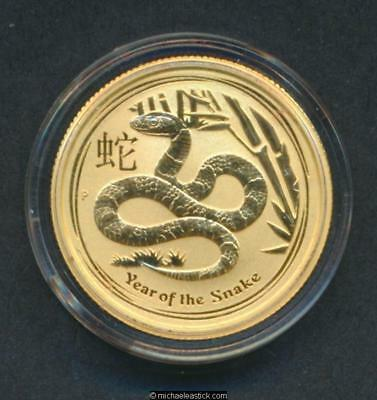 2013 Australia $25 Coin Year of the Snake 1/4 oz .9999 Gold Free Post