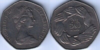 UK 1973 50 Fifty pence Entry to EEC commemorative coin