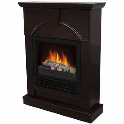 """Electric Fireplace Simulated Wood with 26"""" Mantle Dark Chocolate Styled Mantle"""