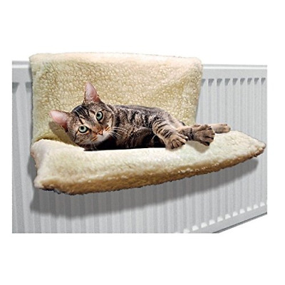Invero® Cat Dog Puppy Pet Radiator Bed Warm Fleece Beds Basket Cradle Hammock An