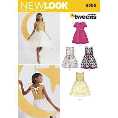 New Look Sewing Pattern 6388 Girls Party Dresses